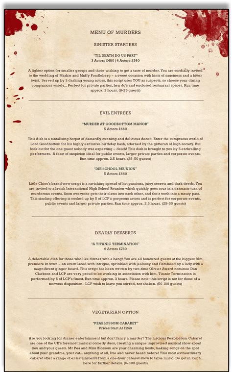 17 Best Images About Events Murder Party On Pinterest