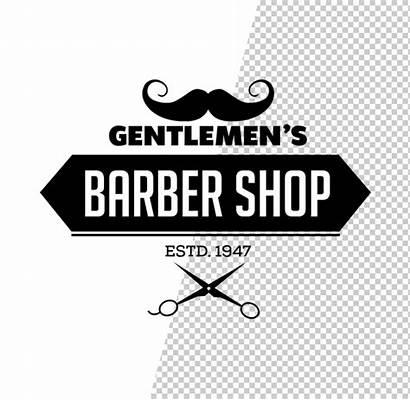 Barber Psd Logos Template Templates Stylish Mustache