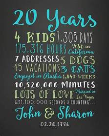 20th wedding anniversary ideas best 25 20th anniversary gifts ideas on 20th anniversary 20 year anniversary gifts