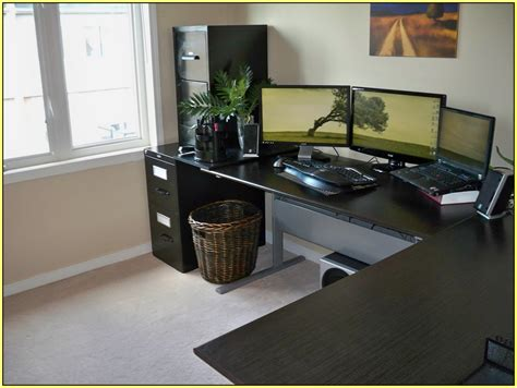Computer Desk L Shaped Ikea by L Shaped Computer Desk Ikea Home Design Ideas
