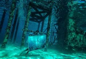 In pictures: Underwater hotel in the Maldives stages ...