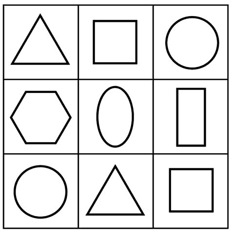 Coloring Shapes by Shapes Coloring Pages