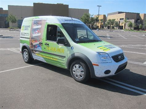 custom full vehicle wrap ford transit connect garden