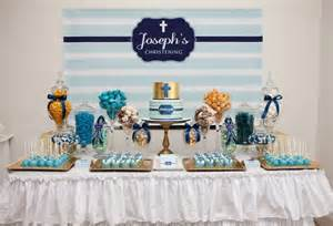 boy baptism ideas celebrations in the catholic home blue christening decoration idea