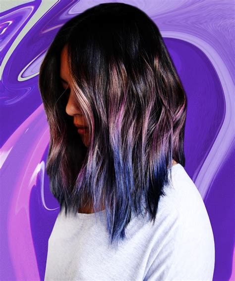 iridescent hair color 50 about to become trendy geode hair color ideas