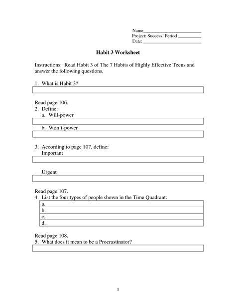 Habit 1 — be proactive. 17 Best Images of Worksheet The Seven Habits - 7 Habits Printables for Kids, Stephen Covey 7 ...