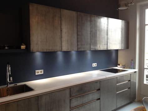 d馗o mur cuisine peinture métal enduit effet métal véritable à 95 fer bronze