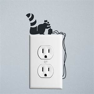 squirrel robber wall decal sticker for wall switches and With wall sticker outlet