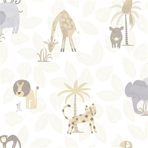 Childrens Animal Wallpaper Uk - holden jungle friends childrens animal wallpaper