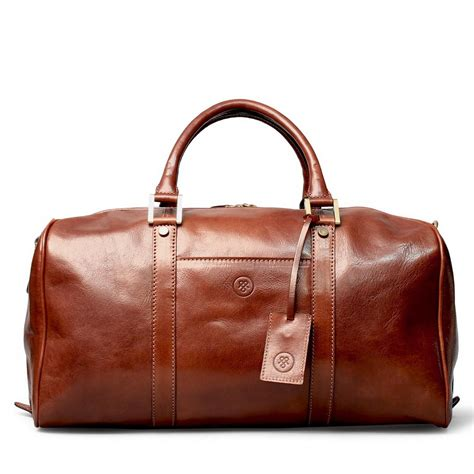 Brown Leather Travel Bag Purse Maxwell Bags Luxury Leather Small Travel Bag