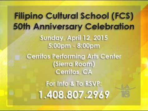 Invitation to the 50th Anniversary of Filipino Cultural