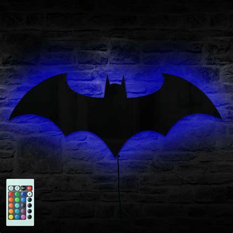 batman logo mirror wall light bruce