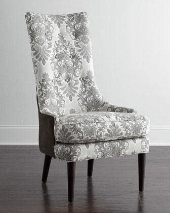 mentz host grey  white dining chair