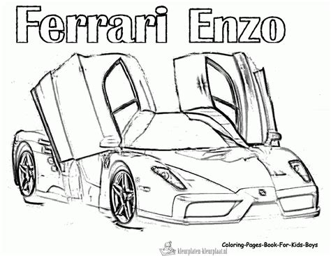 Kleurplaten Ferrari Enzo.Ferrari Coloring Pages Otvod