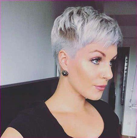 graue kurze frisuren