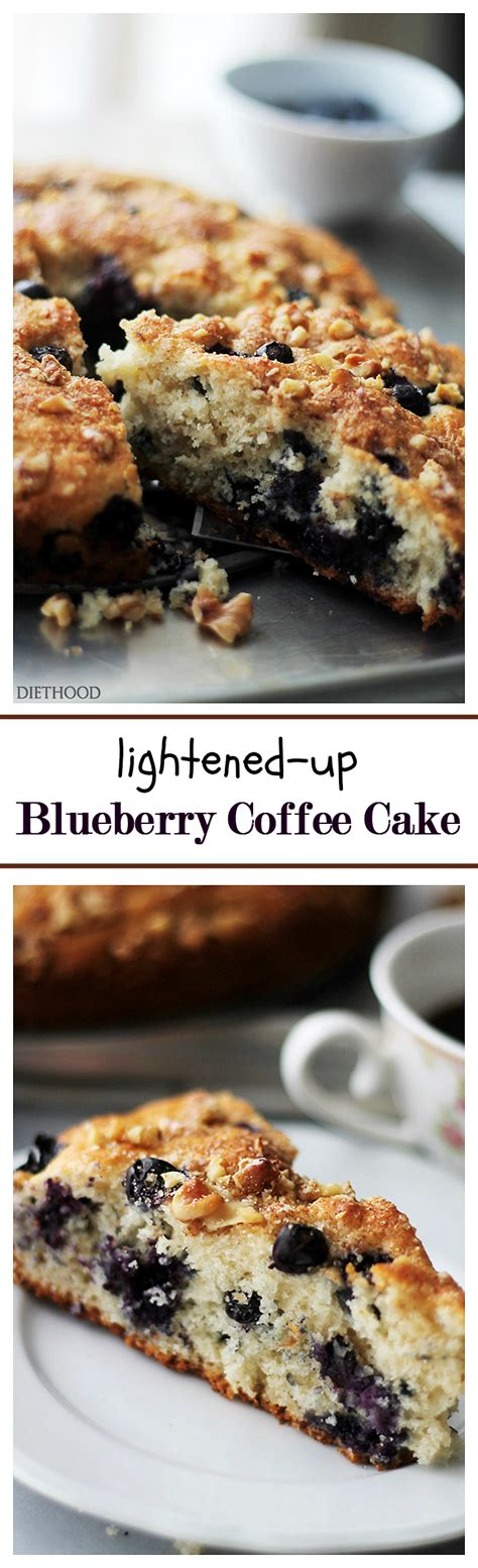 Looking for the low calorie blueberry desserts? Lightened-Up Blueberry Coffee Cake | www.diethood.com | Soft, light … | Blueberry coffee cake ...