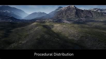 Landscapes Procedurally Slopes Distributed Adds Grasslands Spawner