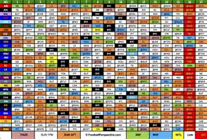 Printable NFL 2016 2017 Schedule