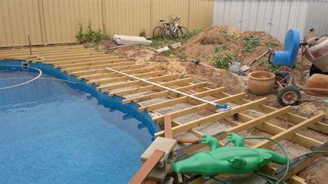 pool deck framing pics ran  decking boards