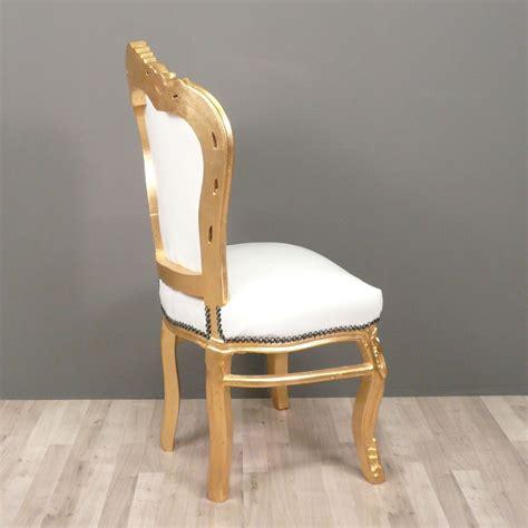chaise baroque blanche blanco barroco y oro de la silla lámpara