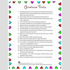 Printable Christmas Trivia Quiz Uk  Festival Collections