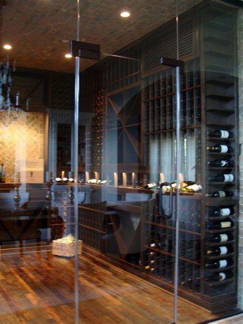 glass custom wine cellar door orange county contemporary