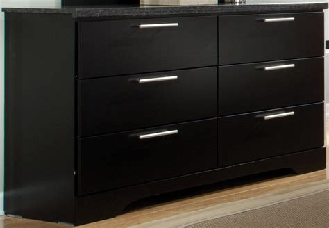 black dresser 6 drawer atlanta black 6 drawer dresser 65009 standard