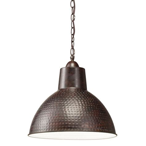 kichler 78200 bronze missoula pendant light with hammered