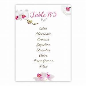 Plan De Table Mariage Gratuit : plan de table orchid e ~ Melissatoandfro.com Idées de Décoration