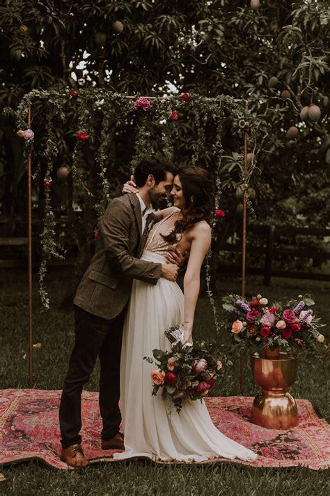 colorful boho vintage wedding ideas   fearless bride