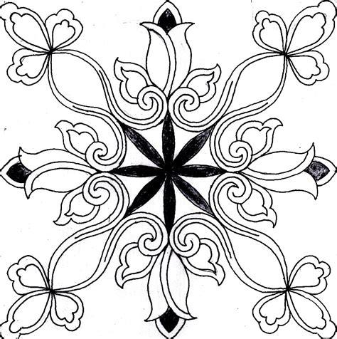kumpulan motif batik bunga sketsa populer