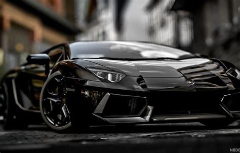 Wallpaper Black, Lamborghini, Power, Aventador, Blurred