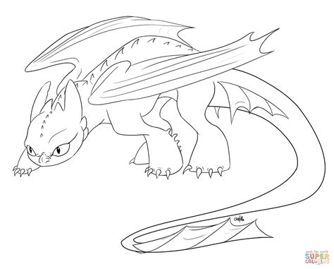Creeping Toothless Coloring Page