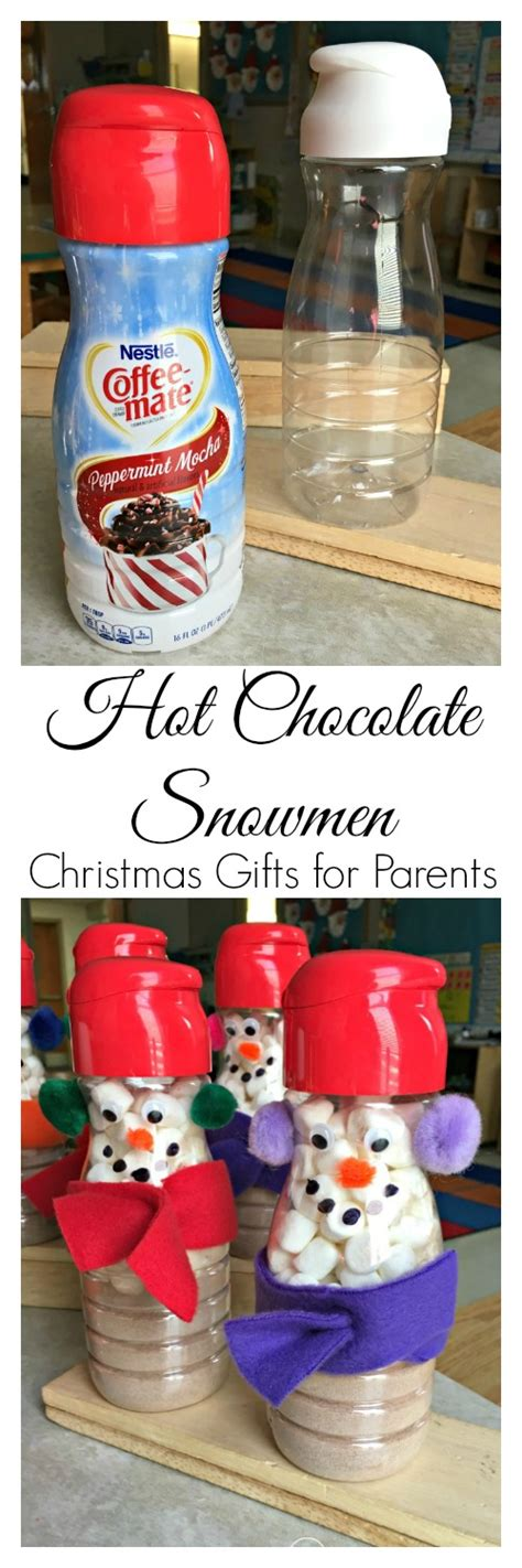preschool christmas gifts to make gifts for parents coffee creamer snowmen