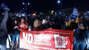 Thousands march to reject Trump in Minneapolis, block ...