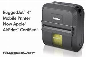 ruggedjet 4 mobile printer now airprint compatible With airprint label printer