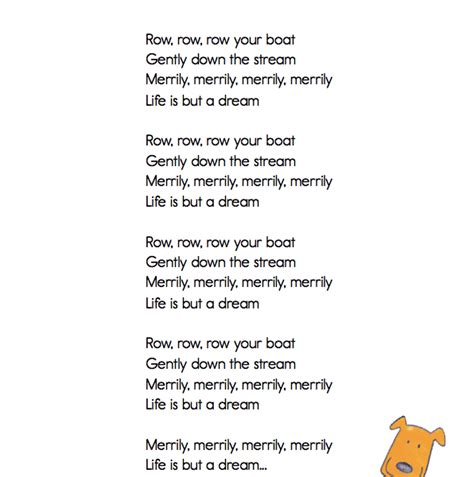 Row Your Boat Words by Classroom Classics Quot Row Row Row Your Boat Quot Lyric Sheet