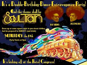 Costume Party Invite Soul Train Dance Party Birthday Blowout On The Plaza