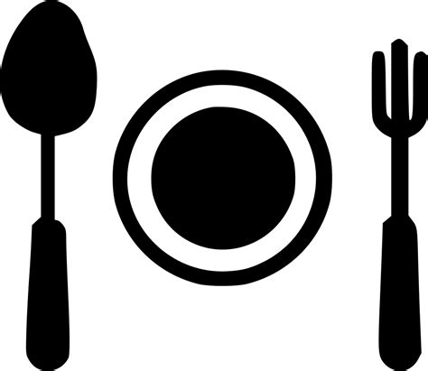 kitchen plate spoon fork egg recipe svg png icon