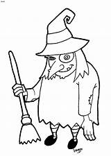 Halloween Clipart Cartoon Witches Witch Coloring Print Cliparts Clip Library sketch template