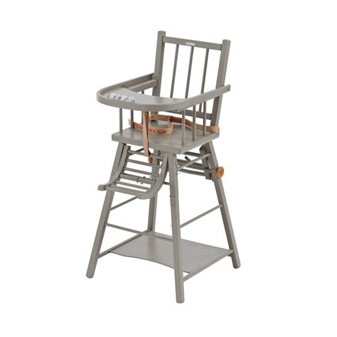 chaise haute transformable marcel laqu 233 gris clair combelle pour chambre enfant les enfants