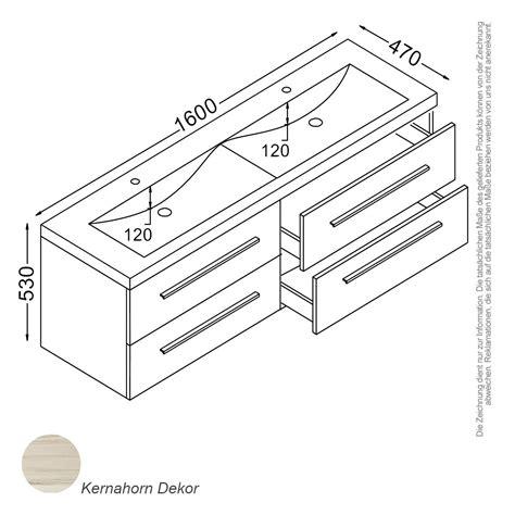Badezimmer Unterschrank 160 Cm by Waschtisch Masse