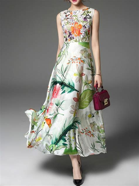 floral embroidery sleeveless maxi dress  stylewecom