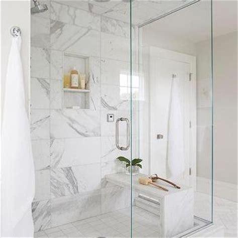 honed white marble shower tiles design ideas