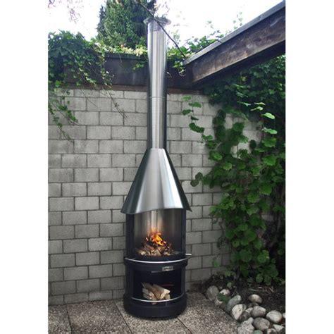 cuisines design cheminée d 39 extérieur barbecue las vegas 700 d brun métallique cvraimentpascher com