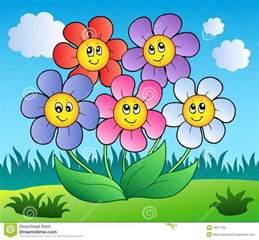 Cartoon Flower Meadow