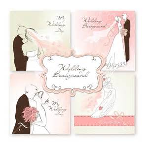 wedding vector wedding background vector image set