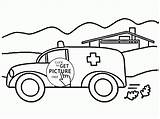 Ambulance Coloring Pages Transportation Preschoolers Printable Wuppsy Printables Ausmalbilder Getcolorings Getdrawings Feuerwehr sketch template