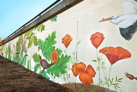 outdoor wall art  oakland california native birds