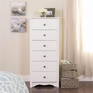 Prepac Monterey 6-Drawer White Chest-WDC-2354-K - The Home